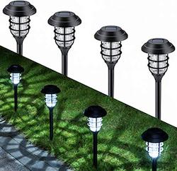 Meilleur lampe solaire de jardin: GIGALUMI Lot de 8 lumières solair