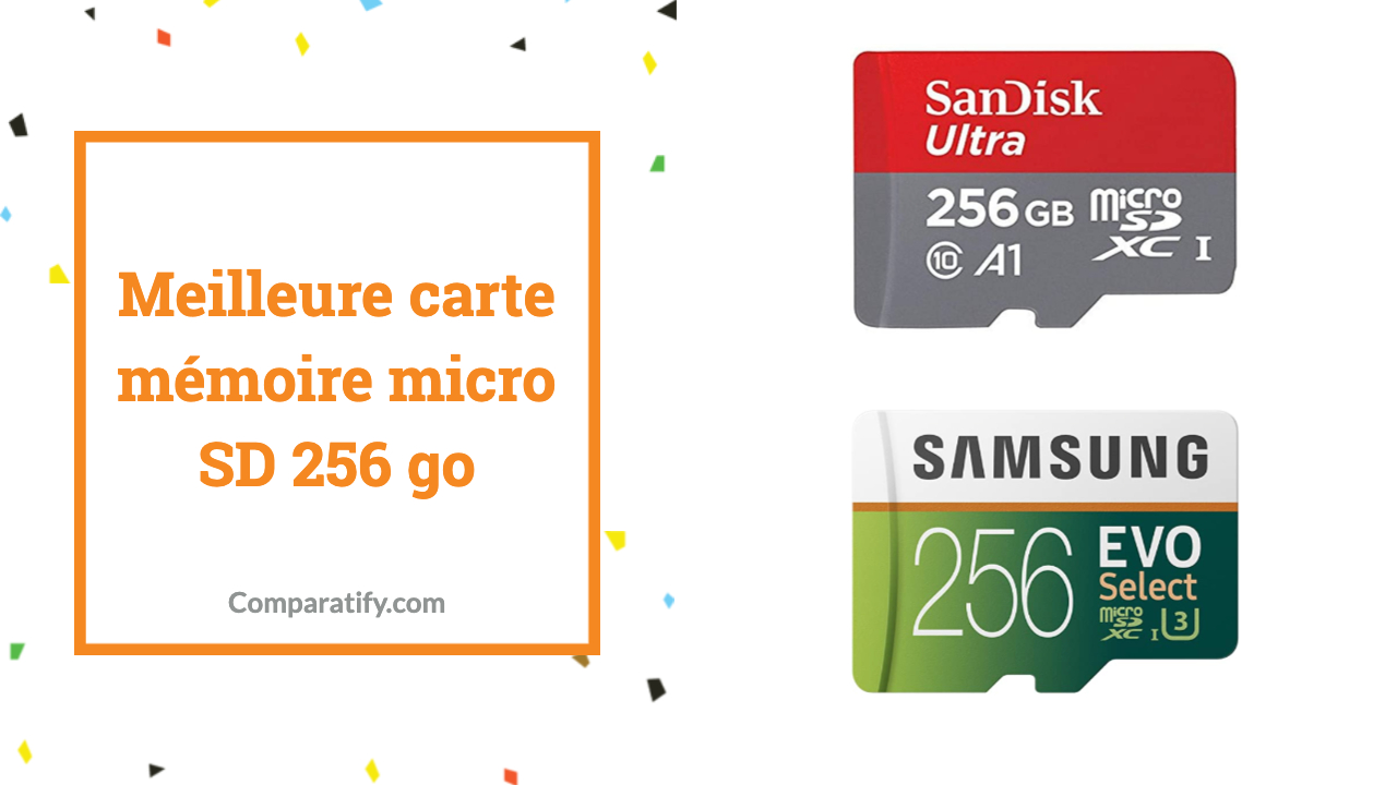 Meilleure carte mémoire micro SD 256 go